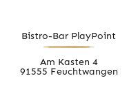 Logo Bistro-Bar PlayPoint, Feuchtwangen