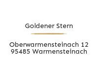 Logo Goldener Stern, Warmensteinach