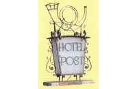 "Logo Gasthof ""Hotel zur Post"" Erlau, Waldinsperger e.K., Obernzell"