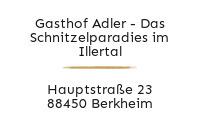 Logo Gasthof Adler - Das Schnitzelparadies im Illertal, Berkheim