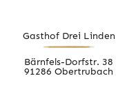 Logo Gasthof Drei Linden, Obertrubach