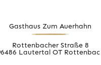 Logo Gasthaus Zum Auerhahn, Lautertal OT Rottenbach