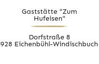 """Logo Gaststätte """"Zum Hufeisen"""", Eichenbühl-Windischbuchen"""