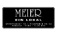 Logo Meier-ein Lokal, Regensburg