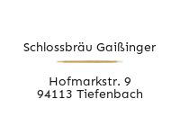 Logo Schlossbräu Gaißinger, Tiefenbach