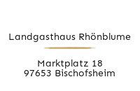 Logo Landgasthaus Rhönblume, Bischofsheim