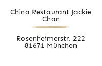 Logo China Restaurant Jackie Chan, München